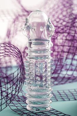 Насадка на пенис TOYFA A-Toys прозрачная 15,3 см