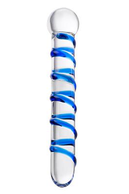 Двусторонний стеклянный фаллоимитатор Sexus Glass 19 см