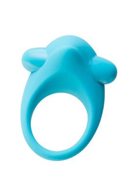 Эрекционное кольцо с вибрацией на пенис TOYFA A-Toys силиконовое голубое