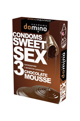 Оральные презервативы DOMINO SWEETSEX с ароматом шоколада (3 шт)