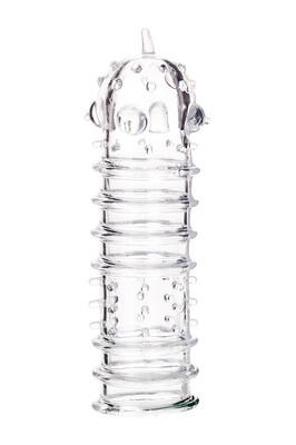 Прозрачная насадка на пенис TOYFA A-Toys 15,3 см