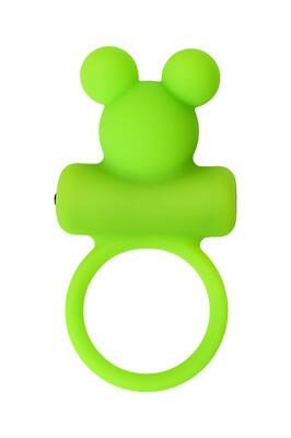 Эрекционное виброкольцо на пенис зеленое A-Toys