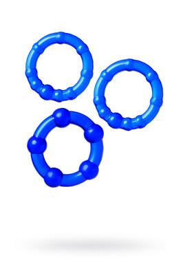 Набор синих эрекционных колец TOYFA A-toys