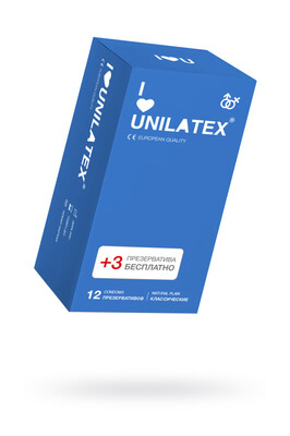 Презервативы классические Unilatex Natural Plain (12+3 шт)