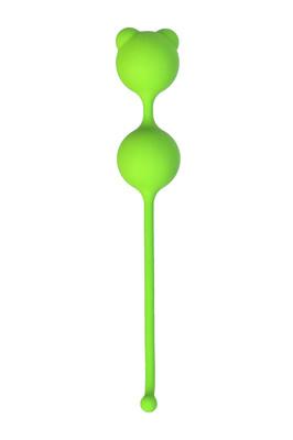 Вагинальные шарики TOYFA силиконовые зеленые D 2,7 см