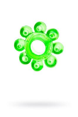 Эрекционное кольцо TOYFA зеленое