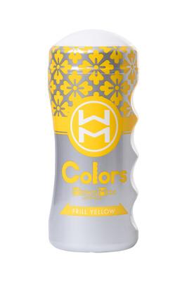 Мастурбатор нереалистичный MensMax Colors Frill Yellow