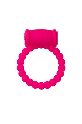 Эрекционное кольцо на пенис с вибрацией TOYFA A-Toys силиконовое розовое