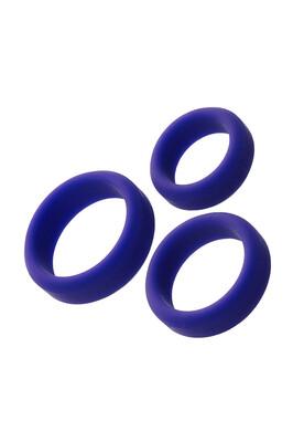 Набор эрекционных колец на пенис A-Toys фиолетовый