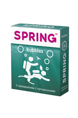Презервативы с пупырышками Spring Bubbles (3 шт)