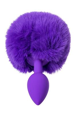 Анальная втулка силиконовая с хвостом ToDo Toyfa Sweet bunny фиолетовая