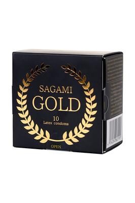 Презервативы латексные Sagami Gold (10 шт)