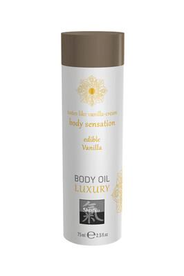 Съедобное массажное масло Shiatsu Luxury ваниль (75 мл)