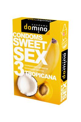 Оральные презервативы DOMINO SWEETSEX с ароматом тропических фруктов (3 шт)
