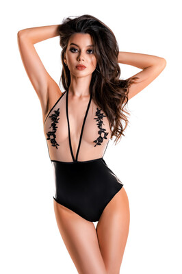 Боди Glossy Kiara из материала Wetlook, L