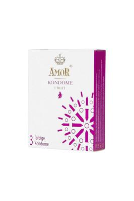 Презервативы цветные ароматизированные Amor Fruit (3 шт)