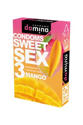 Оральные презервативы DOMINO SWEETSEX с ароматом манго (3 шт)