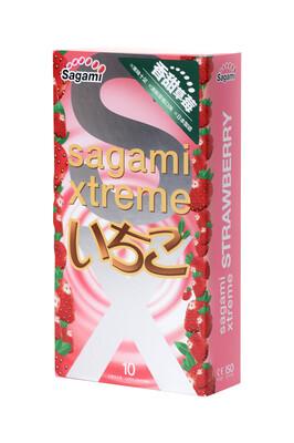 Презервативы латексные Sagami Xtreme Strawberry (10 шт)