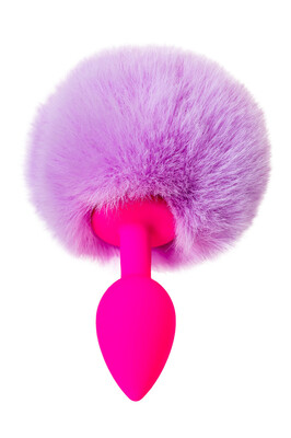 Анальная втулка силиконовая с хвостом ToDo Sweet bunny розово-фиолетовая