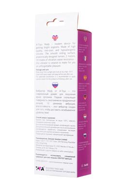 Вибратор с клиторальным стимулятором TOYFA A-Toys Mady силиконовый розовый 20,4 см