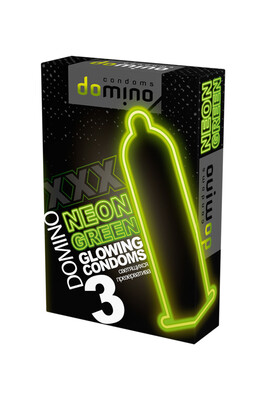 Светящиеся презервативы Domino Neon (3 шт)
