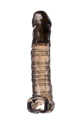Насадка Toyfa XLover для увеличения размера черная прозрачная 22,5 см
