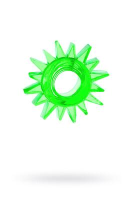 Кольцо эрекционное Toyfa зеленое