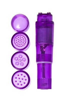 Мини вибратор Erotist с насадками, фиолетовый