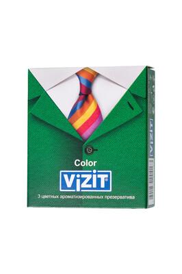 Презервативы латексные цветные ароматизированные VIZIT Color (3 шт)