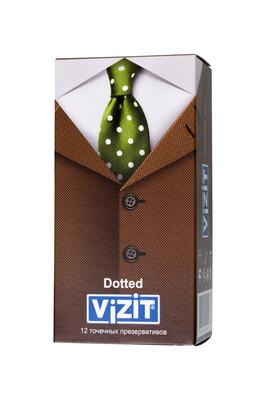 Презервативы латексные точечные VIZIT Dotted (12 шт)
