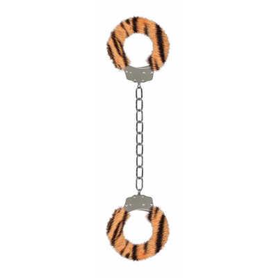 Металлические наножники с меховой обивкой Furry Ankle Cuffs тигровые