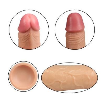 Фаллос на присоске 7  Dual-Layered Silicone Cock телесный