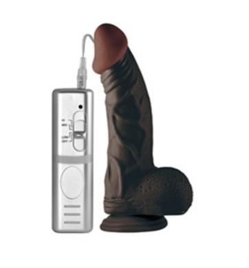 Вибратор черный с присоской Real Extreme 23 см