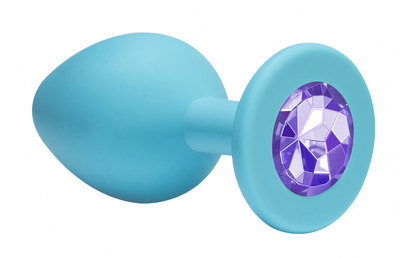 Анальная пробка Emotions Cutie Small Turquoise light purple crystal