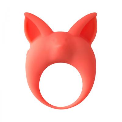 Виброкольцо эрекционное оранжевое Mimi Animals Kitten Kyle