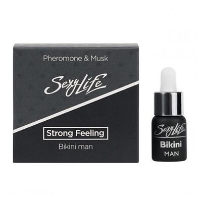 Концентрированные мужские духи с феромонами и мускусом для зоны бикини Sexy Life Strong Feeling мужские (5 мл)