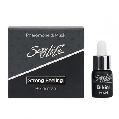 Концентрированные мужские духи с феромонами и мускусом для зоны бикини Sexy Life Strong Feeling (5 мл)