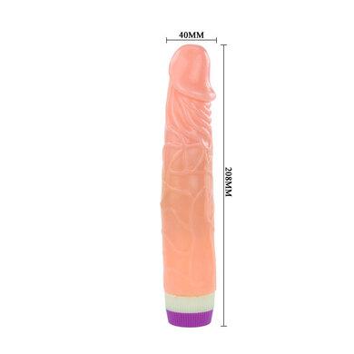 Телесный фаллос с вибрацией 18 см