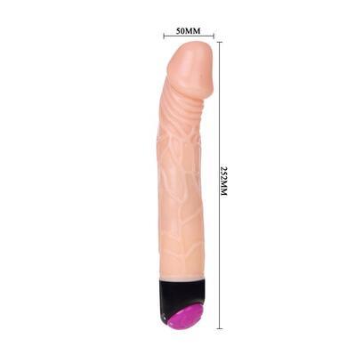 Гибкий вибратор с функцией ротации Realistic Wrench 24 см