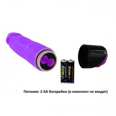 Вибратор фиолетовый с рабочей длиной 18,5 см