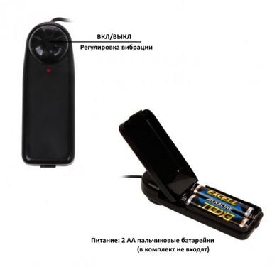 Вибратор с ротацией с выносным пультом управления телесный