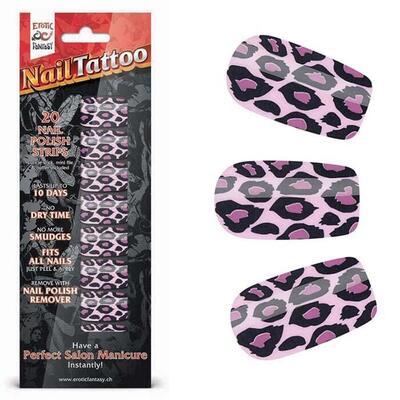 """Набор лаковых полосок для ногтей """"Фиолетовый леопард"""" Nail Foil"""