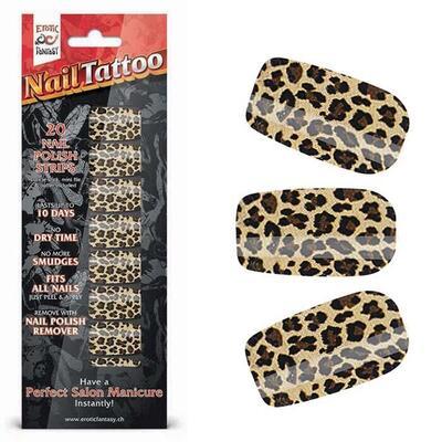 """Набор лаковых полосок для ногтей """"Леопард"""" Nail Foil"""