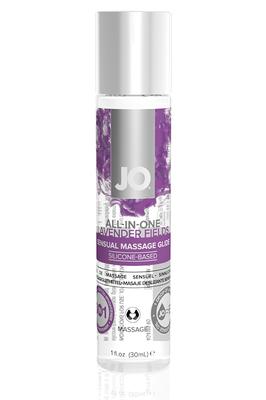 Массажный гель-лубрикант на силиконовой основе ALL-IN-ONE Massage Glide Lavender с ароматом лаванды (30 мл)