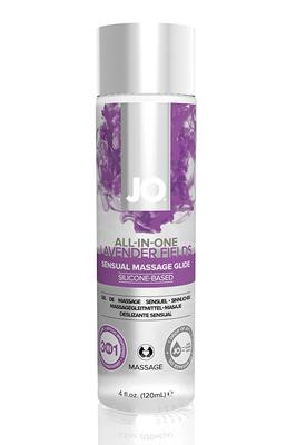 Массажный гель-лубрикант на силиконовой основе ALL-IN-ONE Massage Glide Lavender с ароматом лаванды (120 мл)