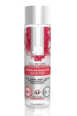 Универсальная гель-смазка на силиконовой основе с согревающим эффектом JO All-In-One Massage Glide Warming (120 мл)