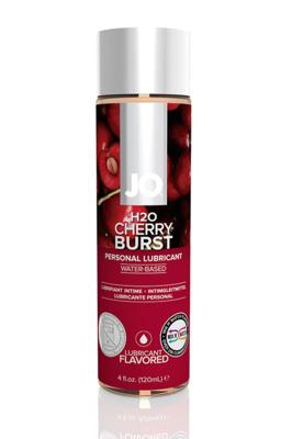 Ароматизированный лубрикант на водной основе Вишня JO Flavored Cherry Burst (120 мл)