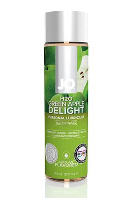 Ароматизированный лубрикант на водной основе Яблоко JO Flavored Green Apple H2 (120 мл)