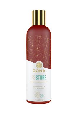 Массажное масло Dona с ароматом перечной мяты и эвкалипта (120 мл)