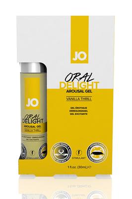 Стимулирующий гель для оральных ласк с десенсибилизацией Oral Delight - Vanilla Thrill ванильный (30 мл)